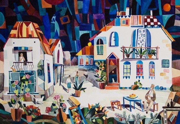 Декоративный, мозаичный город #Маши_Ждан.  #a_r_t_a_ru