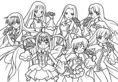Manga fill coloriage dessin pinterest manga - Coloriage manga difficile ...