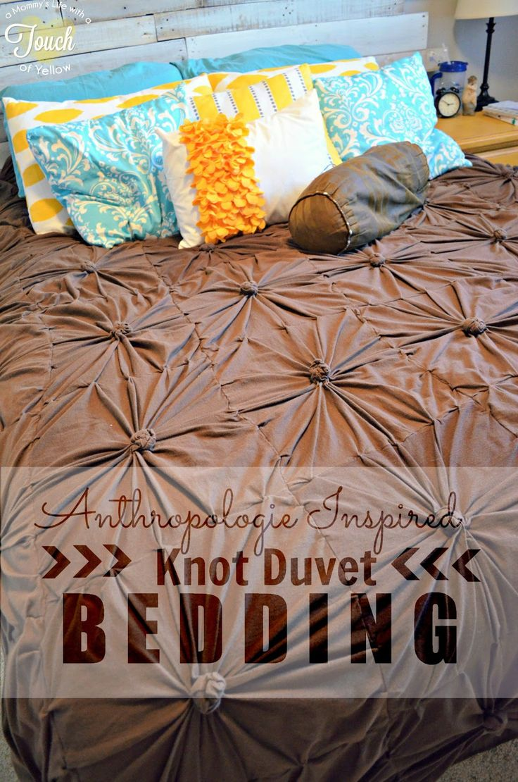 Someday Crafts: Anthropologie Inspired Knot Duvet Bedding