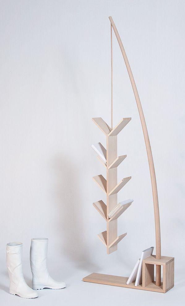 freestanding oak cd rack p cheur by drugeot labo bookcases design pinterest. Black Bedroom Furniture Sets. Home Design Ideas