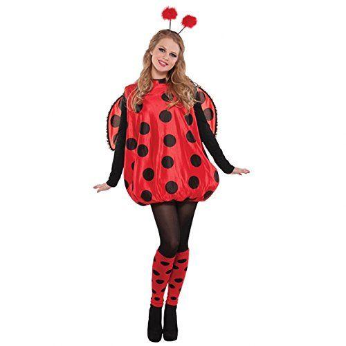 Damen Kostüm Marienkäfer Glückskäfer Ladybug: Amazon.de: Spielzeug