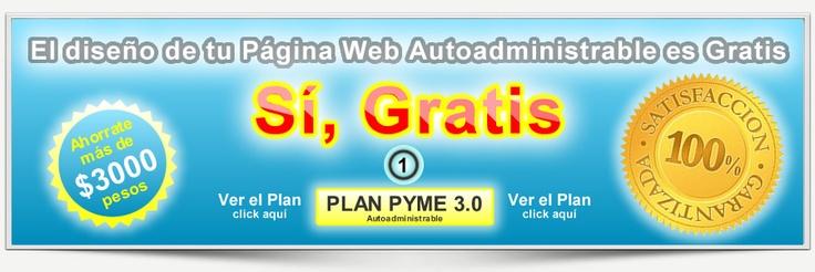 Diseño Web Gratis  Supaginagratis te da la posibilidad de tener tu propia Página Web Autoadministrable o Autogestionable valorada en $3000 pesos o más, según a que estudio de diseño web se contrate.    http://www.supaginagratis.com.ar/diseno-web/