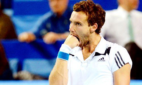2014 ATP Open 13 Quarterfinals; Ernests Gulbis def. Nicolas Mahut 6-3, 7-6(1)