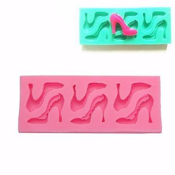 NewChic - NewChic High-heeled Shoes Shape Silicone Mould Chocolate Molds Fondant Cake Decor Tools - AdoreWe.com