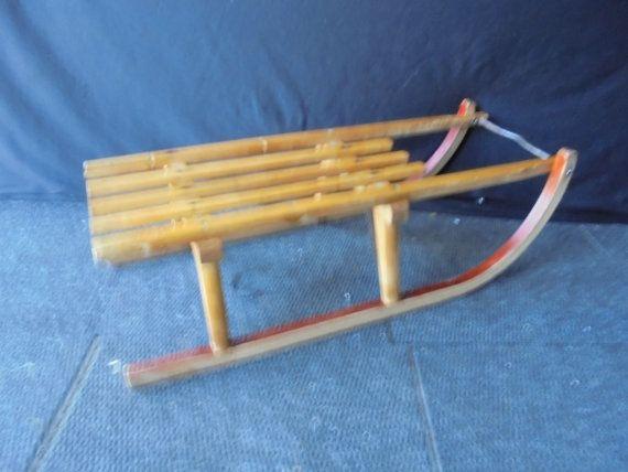 wooden sledge,alaska sledge, winter, snow, ice, alaska, children's item, toys,sport