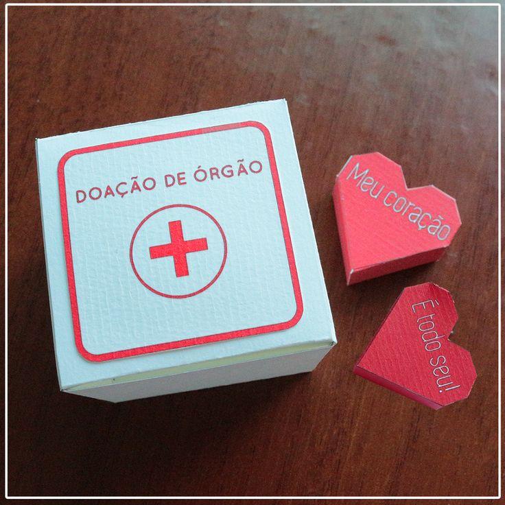 DIY: Caixa Doação de Órgão