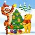 Fondo de pantalla Árbol de Navidad con Winnie The Poo y Tiger.  Si te gustar comparte las i...