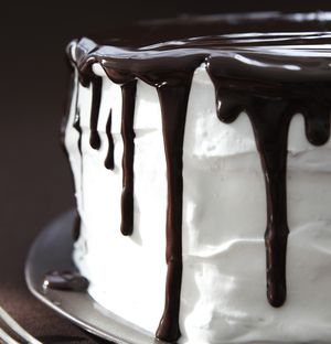 Chocolate Shadow Cake Recipe with Fluffy White Frosting