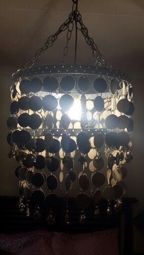 My first attempt at making a chandelier. Black leather