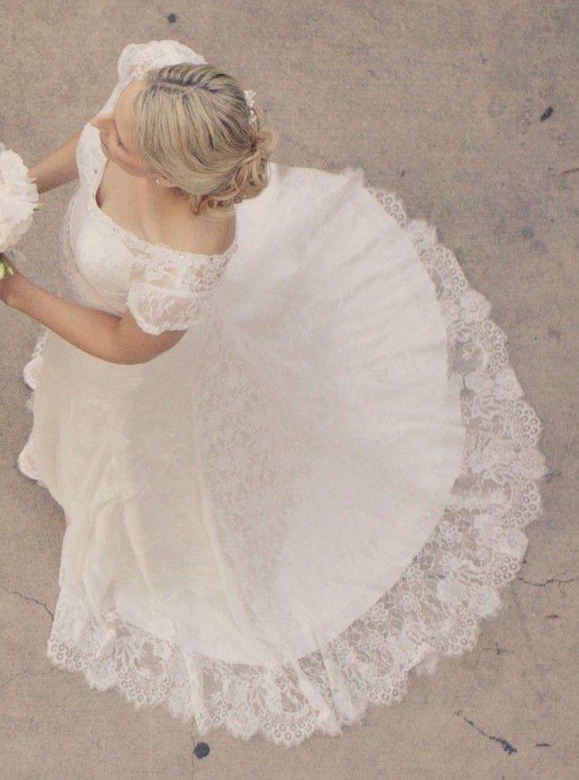 Alfred Angelo 8501, Modern Vintage Bridal, 8501 Lace Size 10 Wedding Dress For Sale | Still White Australia