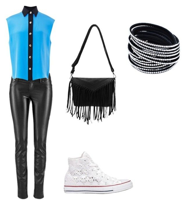 """""""Friday"""" by keishaflores ❤ liked on Polyvore featuring FAUSTO PUGLISI and Converse"""