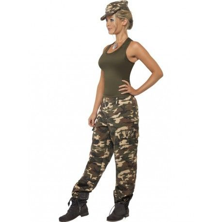 Disfraz de Militar con Gorra para mujer
