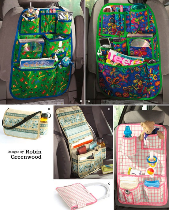 CAR ORGANIZER Sewing Pattern ~ Four Auto Organizers #patterns4you SOLD!