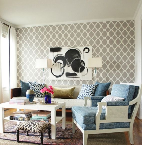 1000+ Ideas About Wallpaper Accent Walls On Pinterest