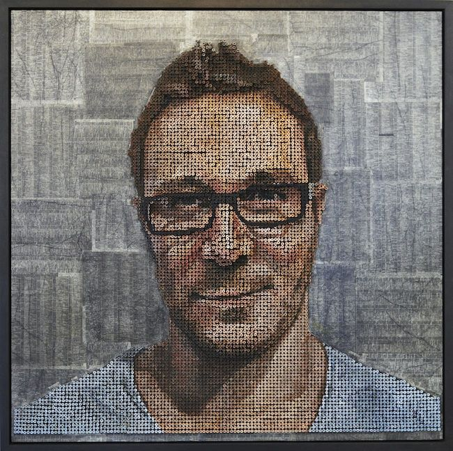 Andrew Myers uses thousands of screws to make 3D portraits. (nice guy too! he exhibits at the Laguna Beach Art A Fair festival)