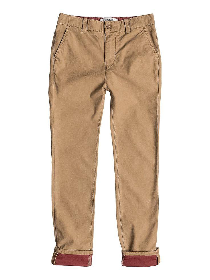 Krandy Block Slim - Quiksilver Chino Hose für Jungen  Diese Hosen von Quiksilver sind Teil der Kollektion 2015 und bestechen mit: Baumwoll-Twill auf der Rückseite, 8,5 Oz. Stoff und Slim Fit.  Merkmale:  Chino Hose, Baumwoll-Twill auf der Rückseite, 8,5 Oz. Stoff, Slim Fit, Details auf der Innenseite,  Dieses Produkt besteht aus:  98% Baumwolle 2% Elastan,  ...