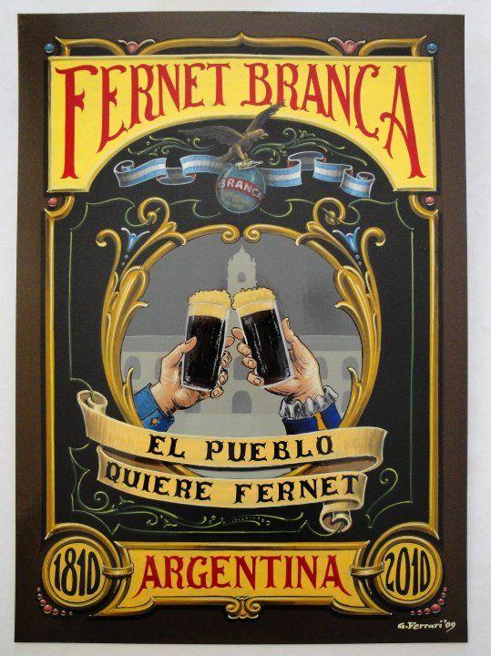 Gustavo Ferrari Fernet cartel filete porteño