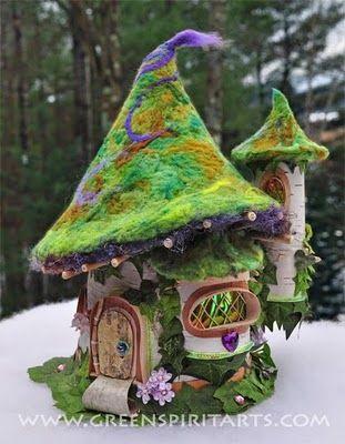 Colorful fairy house