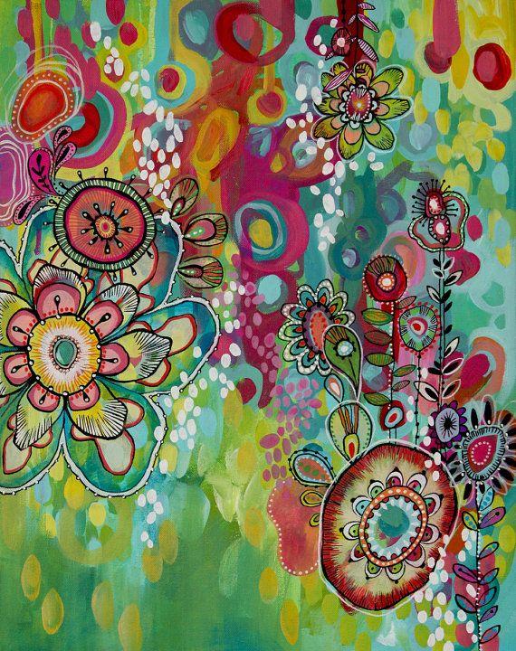 Miss Ariel PRINT abstracto colorido por stephaniecorfee en Etsy
