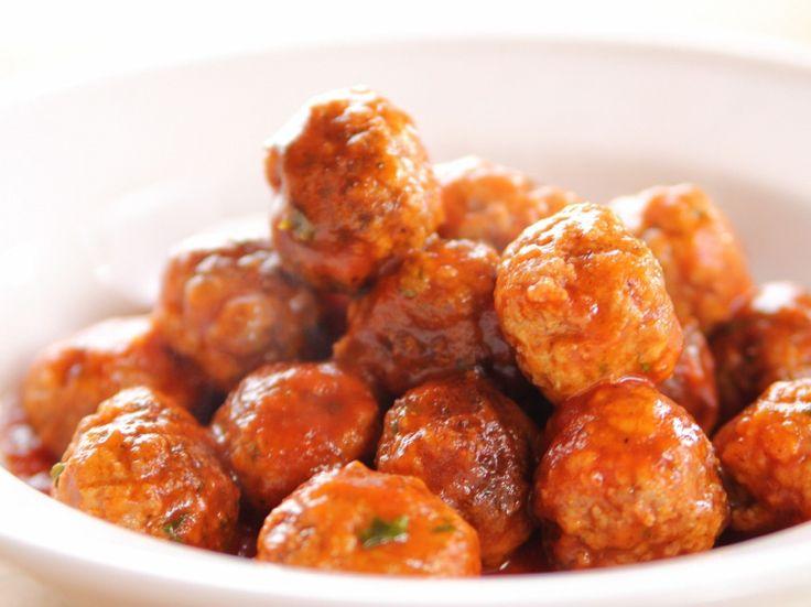 Spicy Italian Meatballs recipe from Ree Drummond via Food Network