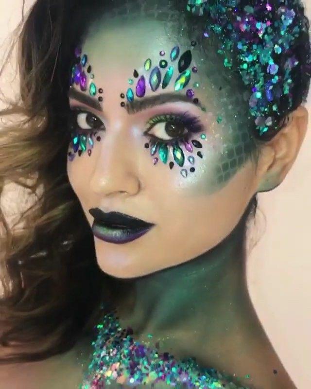 Medusa Makeup Halloween Halloween Makeup Medusa Makeup Face Jewels