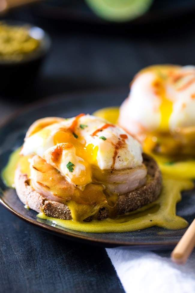 Curry Eggs Benedict | Recipe | Healthy Hollandaise Sauce, Egg Benedict ...