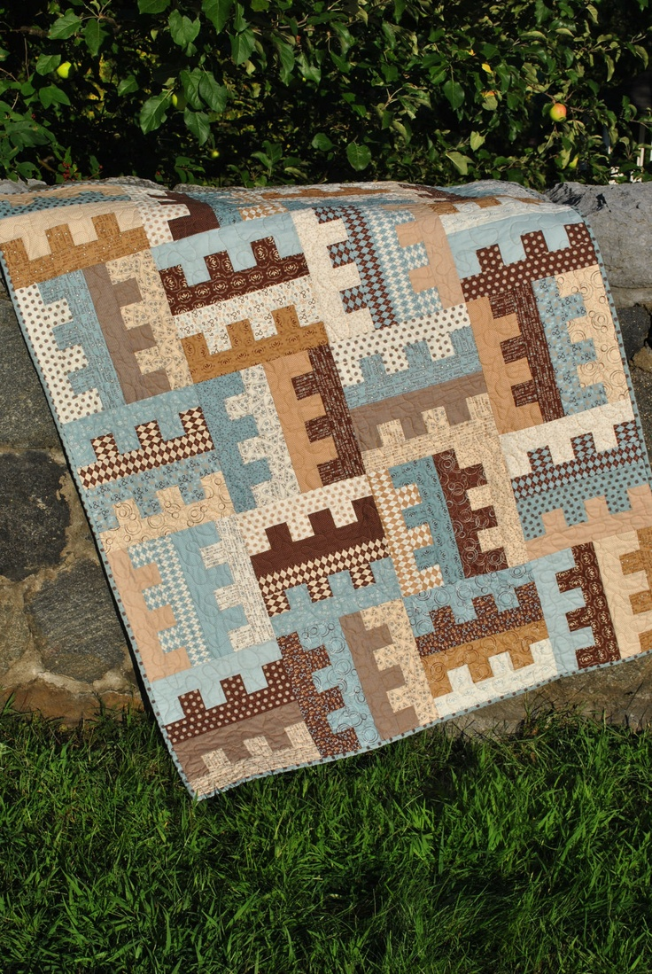 Patchwork Quilt, Lap QUILT or Twin Coverlet ......pattern also for sale. USD 185.00, via Etsy ...