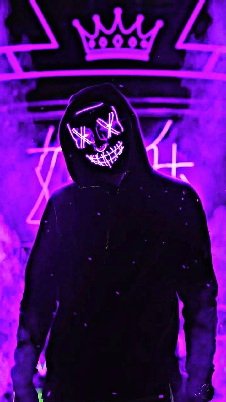 Neon Man Purple Purple Wallpaper Neon Wallpaper Joker Hd Wallpaper