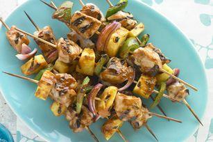 #kraftrecipes Pork and Pineapple Kabobs