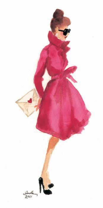 It's art, but I want that pink coat.