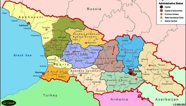 Undefined Georgia Map Map Georgia Regions