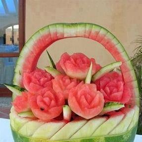Watermelon art sure is popular and amazing to look at!