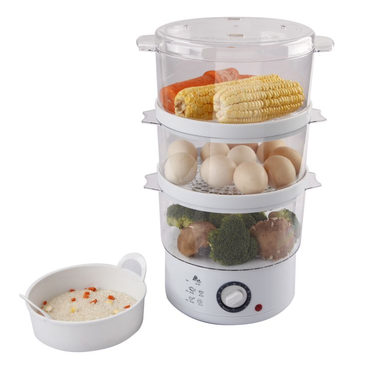 Ovente FS53W White 3-layer Electric Food Steamer (White) (Plastic)