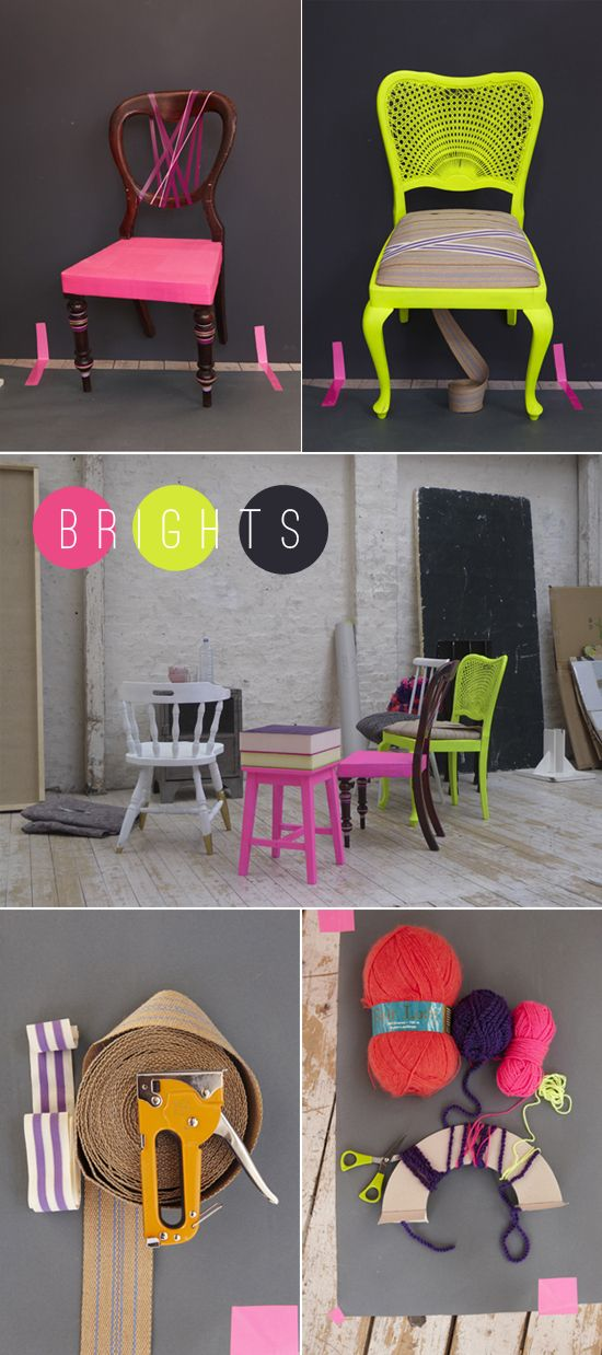 neon chair re-do