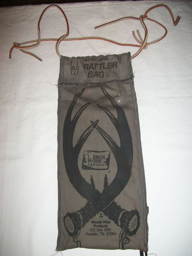 1985 The Original Rattler Bag By Woods Wise Products, Deer Hunting, Game Call