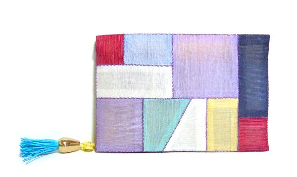 """I made Business card & Credit card case in Korea traditional quilting ways. It's called """"Jogakbo"""" in Korean. Korea traditional quilting usually use silk fabric and silk thread. This is also 100% silk. It can be used as a multi-purpose case. http://rimkimstudio.blogspot.com"""