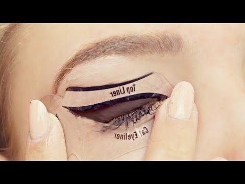 Testing Cat Eyeliner Stencils- Do They Work? - YouTube