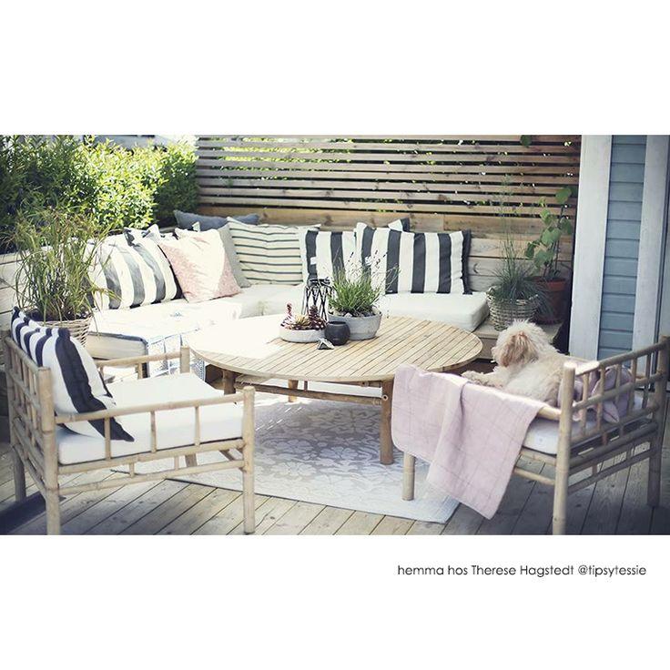 utemobler-tipsy.jpg - Fåtölj Lounge Bamboo Natur m dyna BAMCHAIR - Heminredning på nätet hos Inreda.com