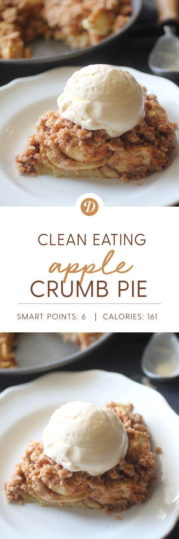 Clean Eating Apple Crumb Pie