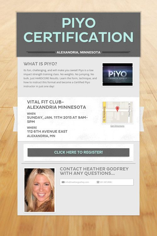 Piyo Certification