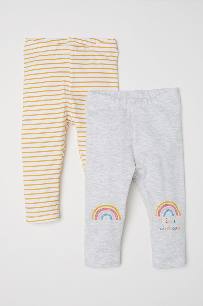 A for Awesome Girls 2-Pack Solid and Stripes Legging Pant Set