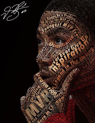 Derrick Rose Typeface Portrait