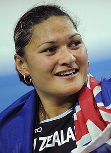 Valerie Adams - winner of Silver, promoted to Gold, in the Women's Shot Put London 2012