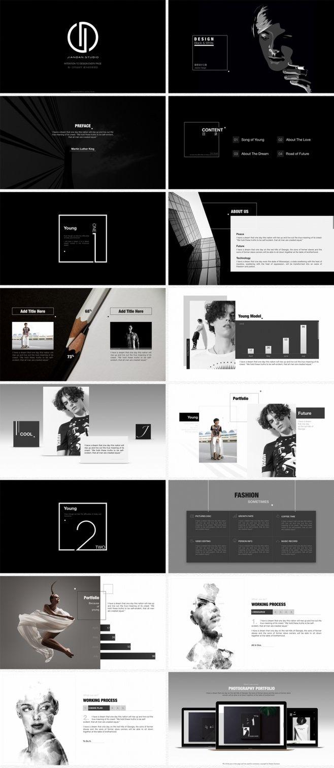 [简单出品]时尚设计展示模版《Black...
