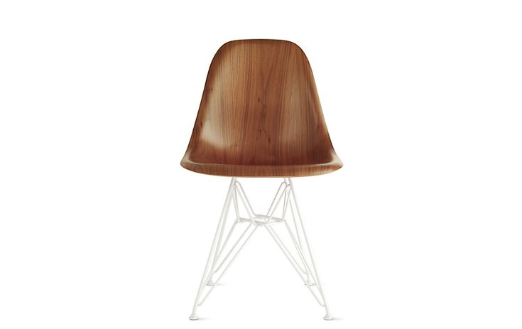 Herman Miller Eames Molded Wood Wire-Base Side Chair (DWSR ...