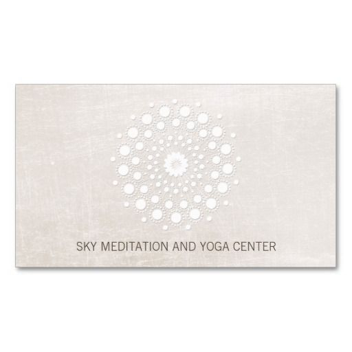 36 best simple elegant business cards images on pinterest elegant white lotus yoga and meditation teacher health spa pack of standard businesscards fully customizable reheart Choice Image