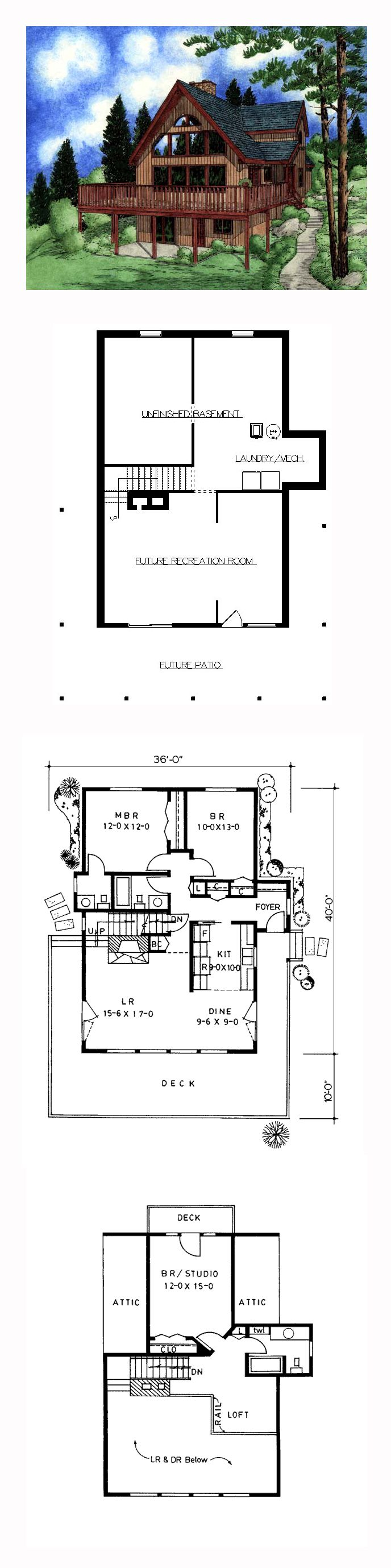 Contemporary House Plan 90844 | Total Living Area: 1552 sq. ft., 3 bedrooms and 2.5 bathrooms. #contemporaryhome
