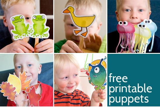 Printable Puppets for Preschoolers
