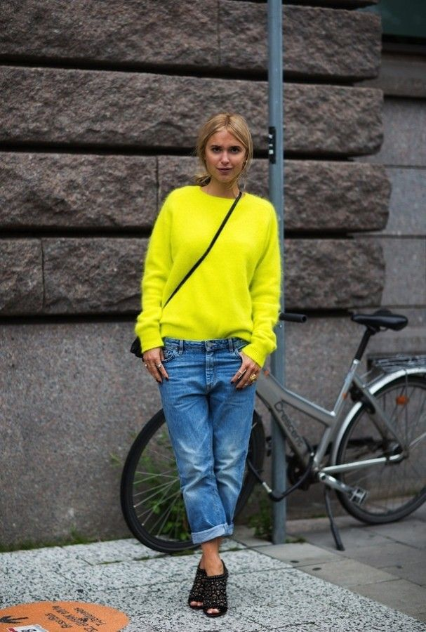 Как носить «джинсы бойфренда» этой осенью 8
