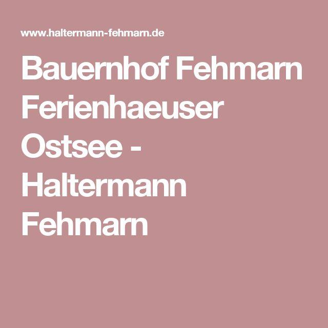 Bauernhof Fehmarn Ferienhaeuser Ostsee - Haltermann Fehmarn
